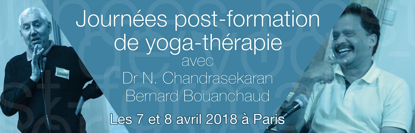 Journées post-formation Yogathérapie avec le & Dr N. Chandrasekaran et Bernard Bouanchaud