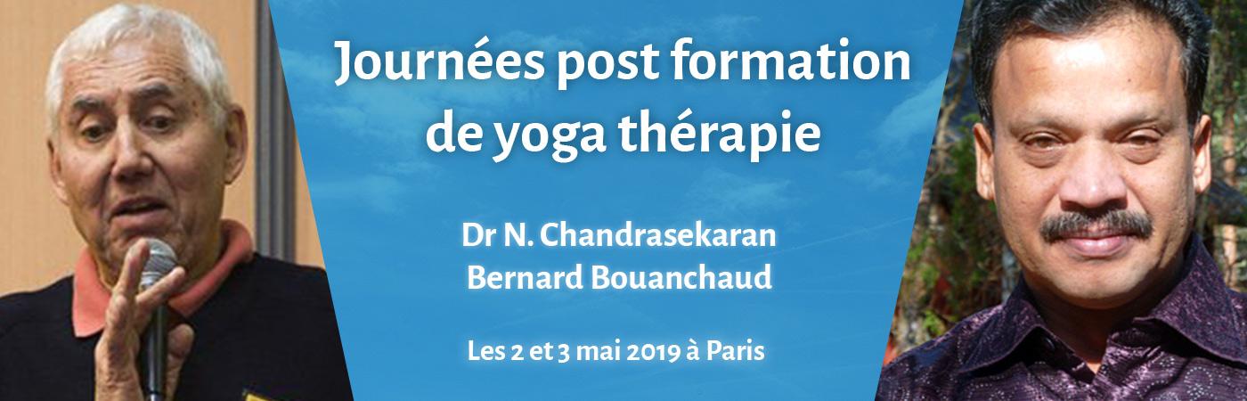 Journées post-formation Yogathérapie les 2 et 3 mai 2019 à Paris