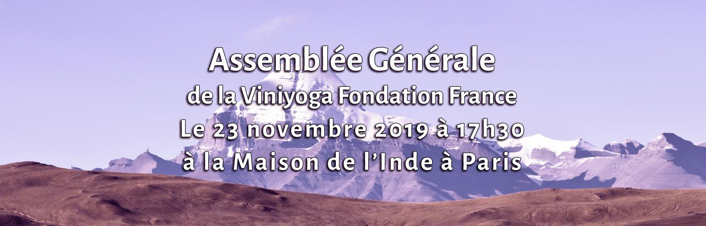 Assemblée Générale 2019 de la Viniyoga Fondation France