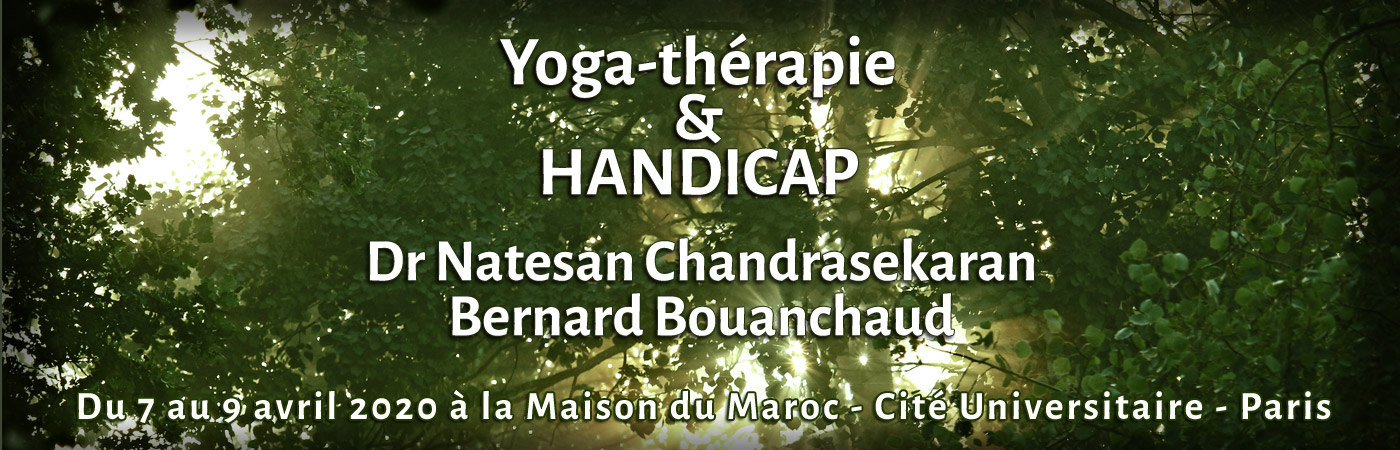 Formation Yoga Thérapie et Handicap du 7 au 9 avril 2020 Maison du Maroc - Cité Universitaire - Paris