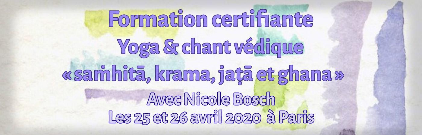Yoga & Chant Védique : saṁhitā, krama, jaṭā et ghana