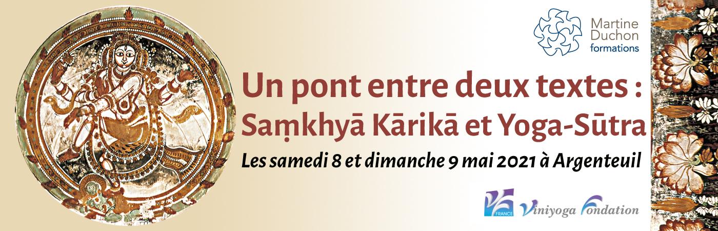 """""""Un pont entre deux textes : Saṃkhyā Kārikā et Yoga-Sūtra"""" – Stage de Martine Duchon reservé aux professeurs"""