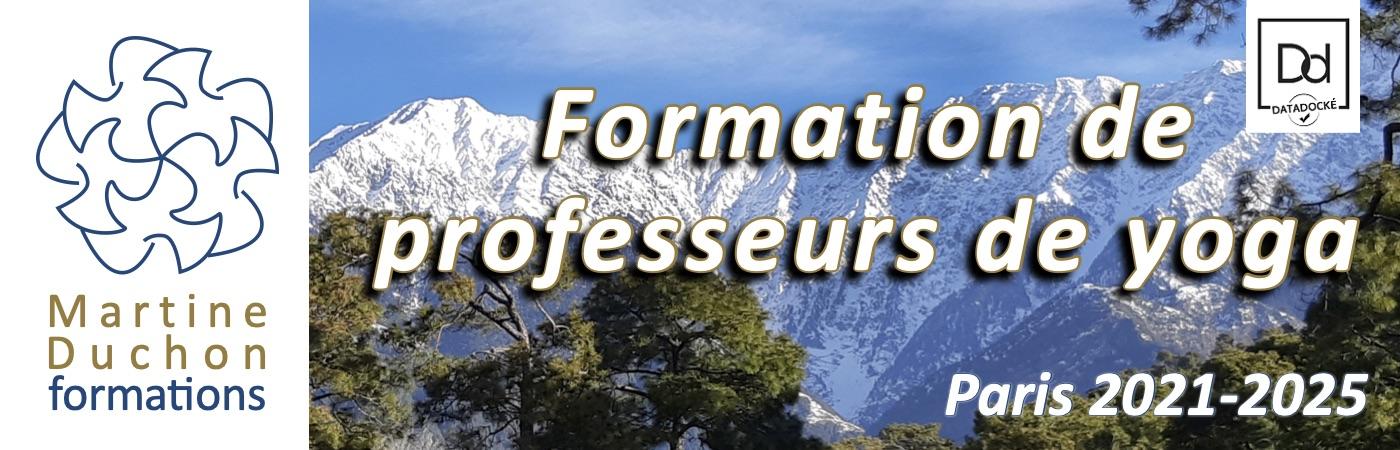 Formation de professeurs de yoga à Paris 2021-2025 par Martine Duchon